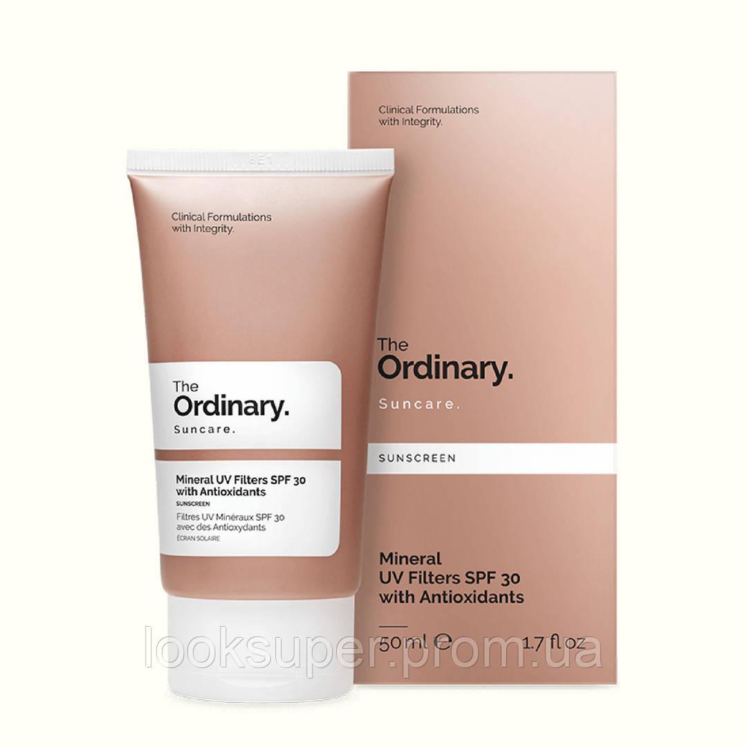 Солнцезащитный крем с минеральными фильтрами The Ordinary Mineral UV Filters SPF 15 with Antioxidants( 50ml)
