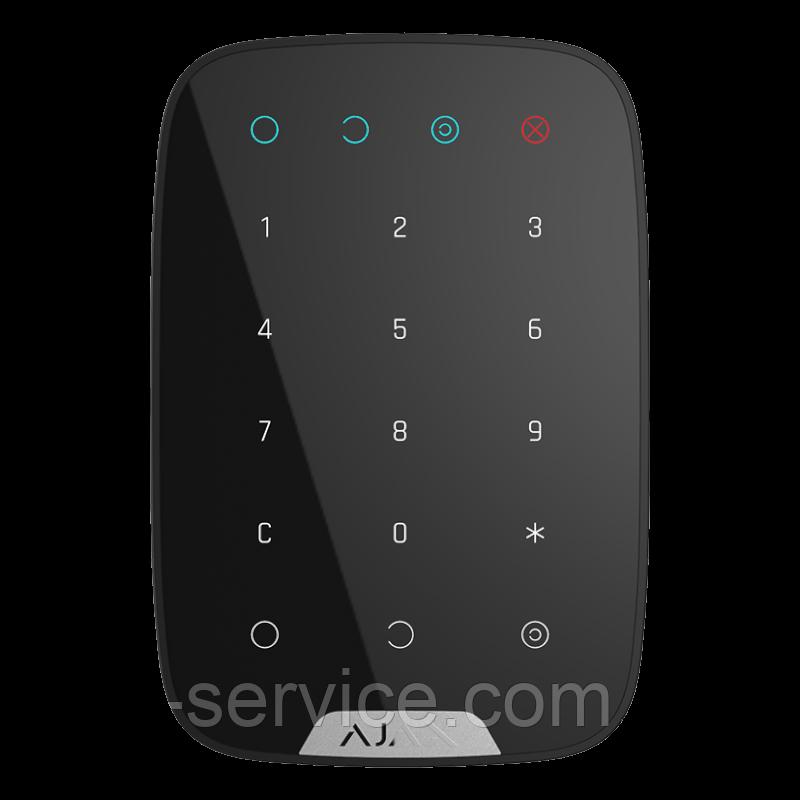 Ajax KeyPad – Бездротова клавіатура – чорна