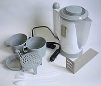 Автомобильный электрочайник чайник 12 вольт автомобильный от прикуривателя, фото 1