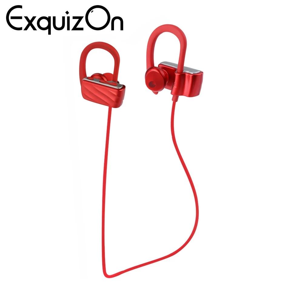 Беспроводная стерео Bluetooth гарнитура наушники Excelvan S560 с микрофоном красные