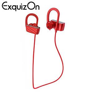 Бездротова стерео Bluetooth гарнітура навушники Excelvan S560 з мікрофоном червоні