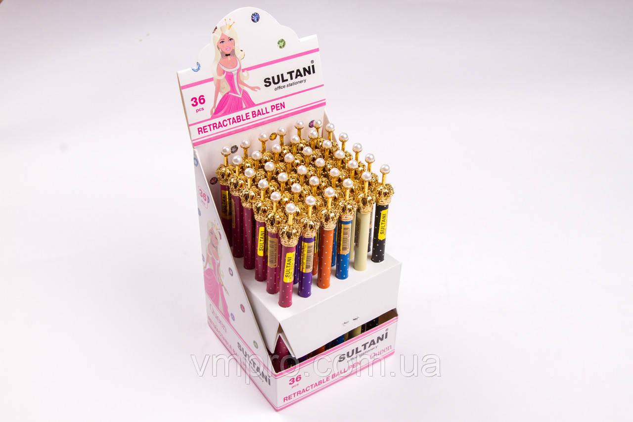 """Ручки подарункові """"Корона"""", Tukzar №ST-7306, автомат., кулькові, 36 шт/блок"""