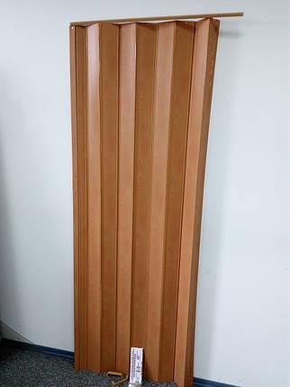 Двери гармошка-ширма 501вишня раздвижные межкомнатные пластиковые глухие 810х2030х0,6 мм, фото 2