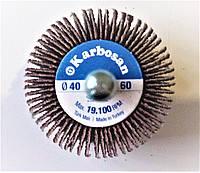 КЛО (круг лепестковый на дрель) 40х30х6 Р60 Karbosan