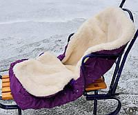 Конверт в санки, коляски на молнии, овчина, фото 1