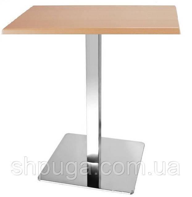 Стол барный Рим1, квадратный, цвет натуральный дуб, 80*80 см, высота 72 см