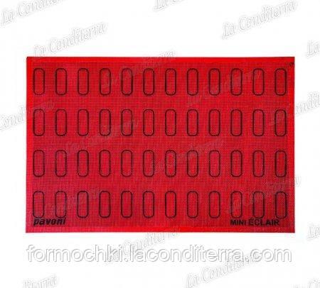Силіконовий перфорований килимок з розміткою для еклерів Pavoni ECL48