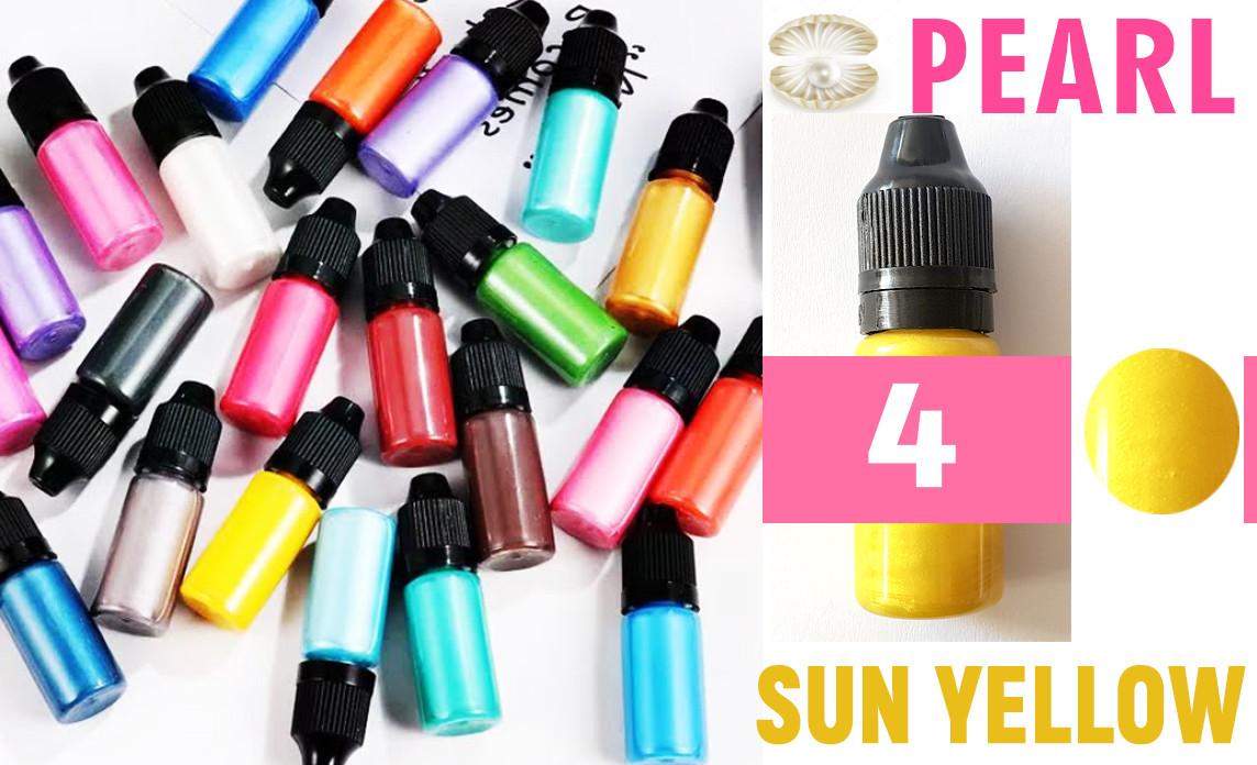 Красители для эпоксидной смолы перламутровые Перл Pearl, 10 г, цвет 4 солнечный желтый