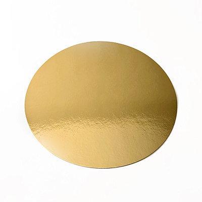 Подложка  под торт золотая  D34cm Галетте - 00324