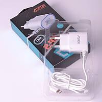 Сетевое зарядное устройство Aspor A802P Lightning+USB-port 2.4 A white