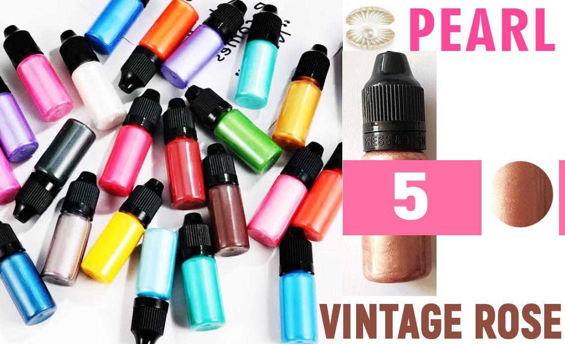 Красители для эпоксидной смолы перламутровые Перл Pearl, 10 г, цвет 5 винтажно розовый