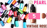 Красители для эпоксидной смолы перламутровые Перл Pearl, 10 г, цвет 5 винтажно розовый, фото 1
