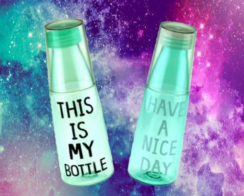 Бутылка со стаканом MY BOTTLE / NICE DAY