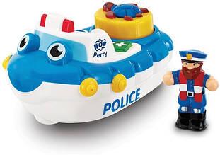 Полицейская лодка Перри WOW Toys Сине-белый (10347)