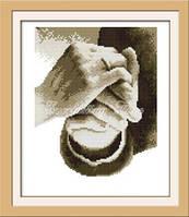 Рука в руке Набор для вышивки крестом канва 14ст