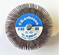КЛО (круг лепестковый на дрель) 60х30х6 Р80 Karbosan