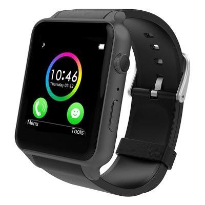 Smart watch GT88 часы (sim, камера, карта памяти) - Черный корпус, черный ремешок