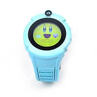 Q360 детские GPS часы с фонариком и камерой - Синий