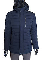Куртка мужская зимняя стеганая 1852 Z темно-синяя, фото 1