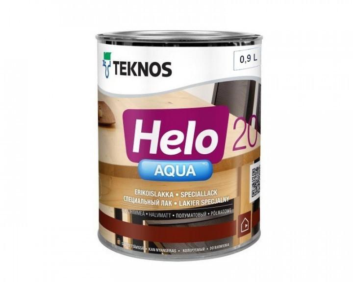 Лак полиуретановый TEKNOS HELO AQUA 20 для паркета и мебели (полуматовый) 0,9 л