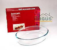 Блюдо для выпечки жаропрочное овальное 1,6 л Borcam (59084)