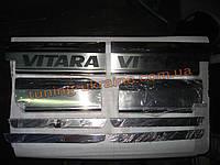 Хром накладки на пороги надпись гравировка для Suzuki Vitara 2015+