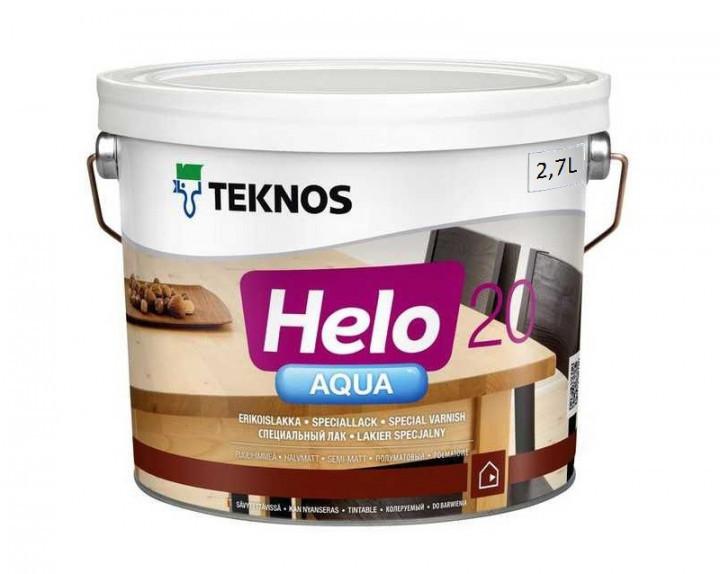 Лак поліуретановий TEKNOS HELO AQUA 20 для паркету та меблів (півматовий) 9 л