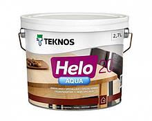 Лак полиуретановый TEKNOS HELO AQUA 20 для паркета и мебели (полуматовый) 2.7 л