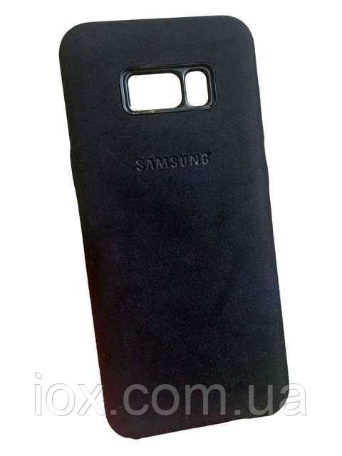 Замшевый чехол-накладка  Alcantara case для Samsung Galaxy S8 Plus - iOX в Киеве