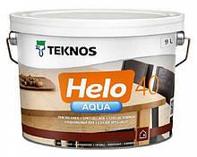 Лак полиуретановый TEKNOS HELO AQUA 40 для паркета и мебели (полуглянцевый) 9 л