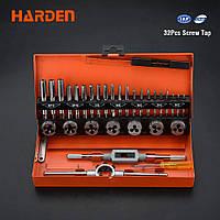 Профессиональный резьбонарезной набор метчиков и плашек 32 пр. Harden Tools 610453