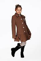 Детское пальто для девочки №566 капучино