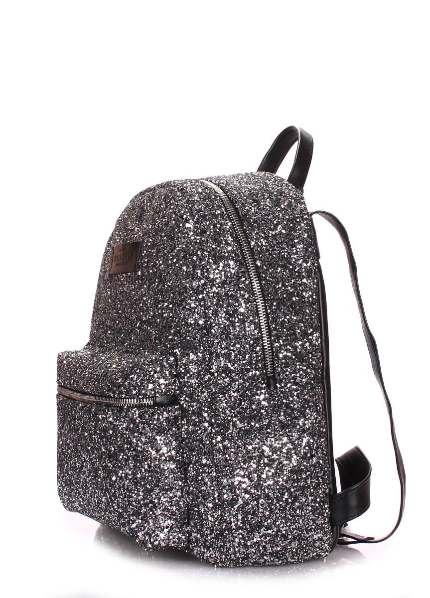 69808b5d0af2 Рюкзак жіночий сріблястий блиск / Рюкзак женский блестящий Poolparty Xs  Silver Glitter