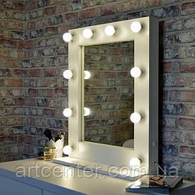 Дзеркало гримерное на підставці, дзеркало з лампочками по рамі