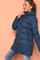 Молодежная зимняя куртка цвета морская волна