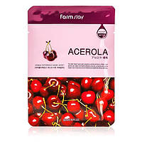 Тканевая маска с экстрактом ацеролы  FarmStay Visible Difference Mask Sheet Acerola  23 мл