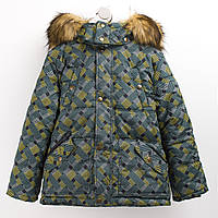 Куртка зимняя Бемби КТ176 122 см зеленый серый (33176013342.6X1) 1fb18160f7a3c