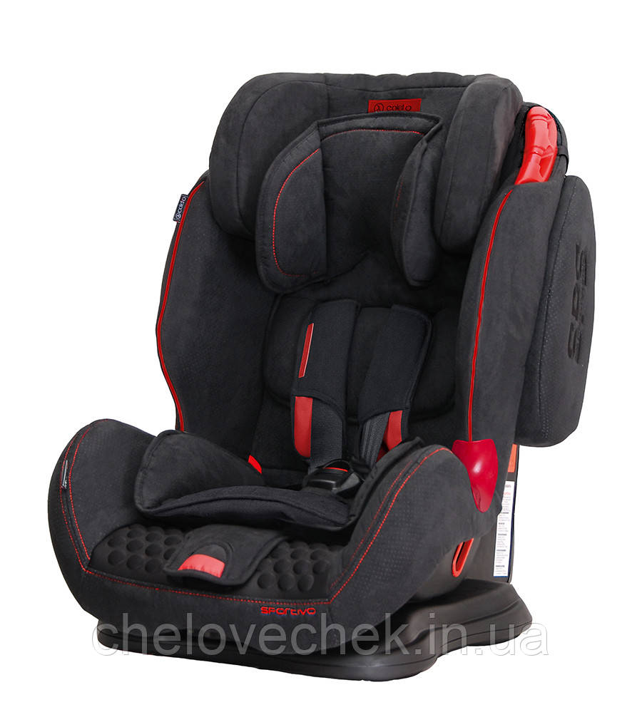 Детское автокресло Coletto Sportivo (9-36 кг) black new (Колетто Спортиво, Польша)