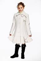 Детское пальто для девочки №567 молочный