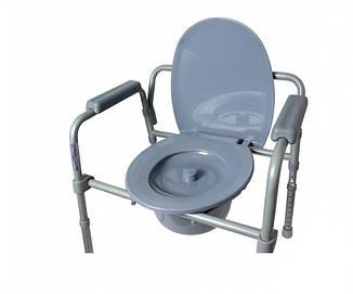 Стул-туалет с санитарным оборудованием регулируемый, фото 2