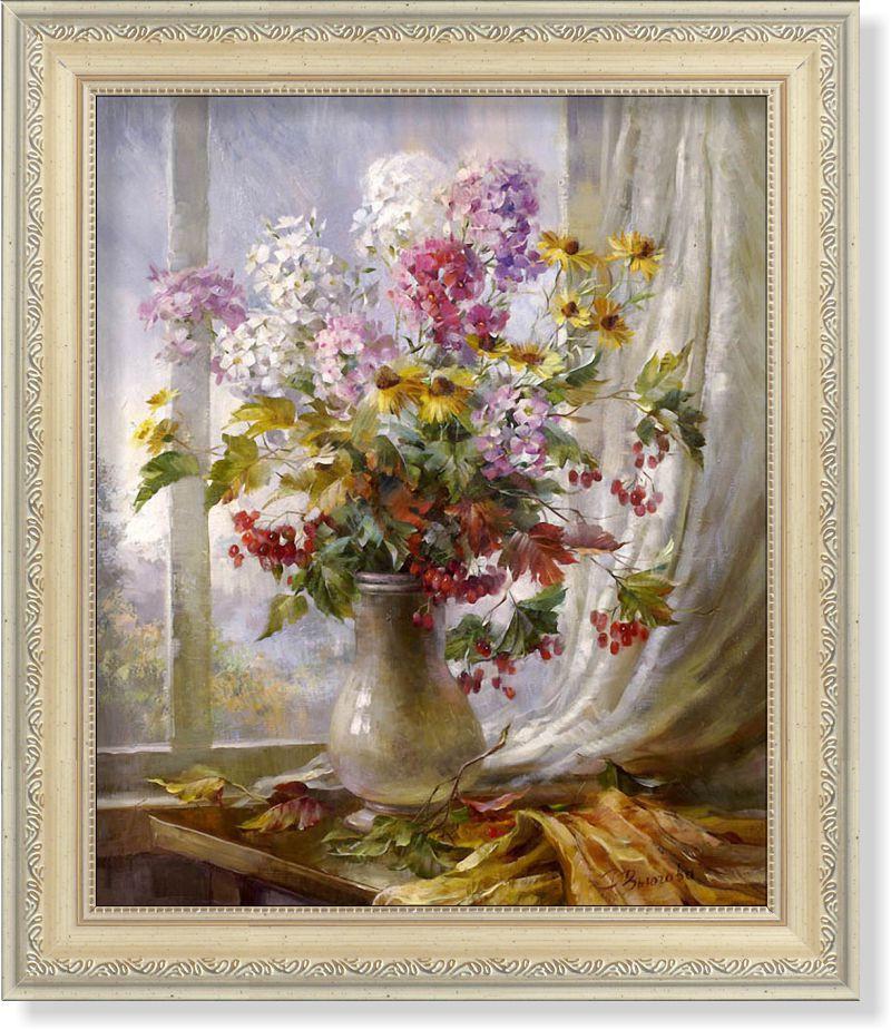 Репродукция  современной картины  «Разноцветье с моей дачи»