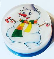 Новогоднее мыло ручной работы со Снеговичком