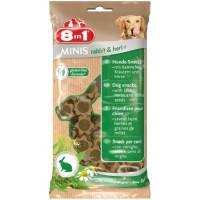 8in1 MINIS Кролик и травы, с просом лакомство для собак, 100г