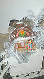 """Эксклюзивный """"Сказочный домик"""" с ручной росписью, двухсторонний, кофе,какао,корица, выс.13 см., 140 гр., фото 2"""