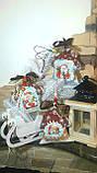 """Эксклюзивный """"Сказочный домик"""" с ручной росписью, двухсторонний, кофе,какао,корица, выс.13 см., 140 гр., фото 6"""