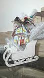 """Эксклюзивный """"Сказочный домик"""" с ручной росписью, двухсторонний, кофе,какао,корица, выс.13 см., 140 гр., фото 7"""