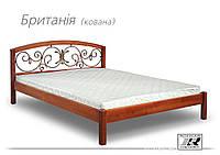 """Кровать деревянная """"Британия""""кованная"""