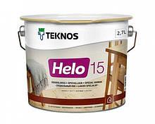 Лак уретан-алкидный TEKNOS HELO 15 яхтовый (полуматовый) 2.7 л
