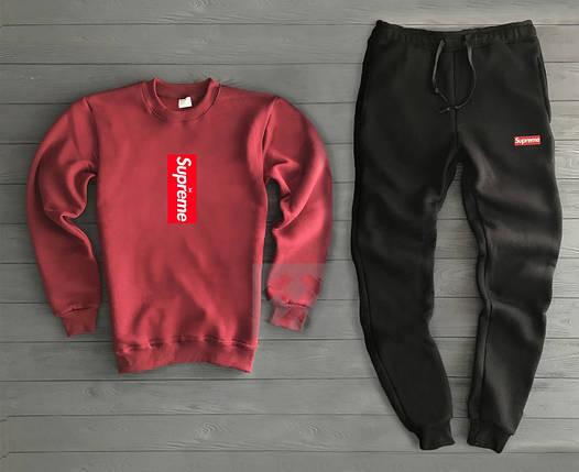 Спортивный костюм Supreme красный с черным топ реплика, фото 2
