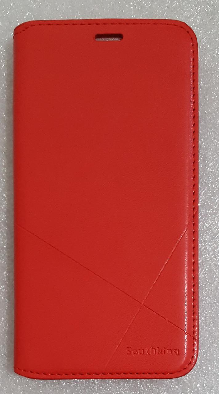 Чохол книжка Southking для Huawei Honor 7C red